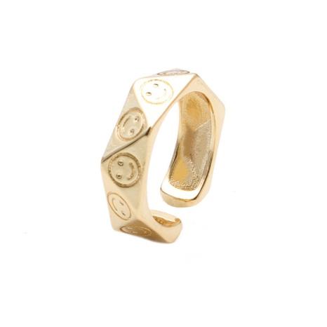 new fashion polygonal irregular smiley ring NHYL333058's discount tags