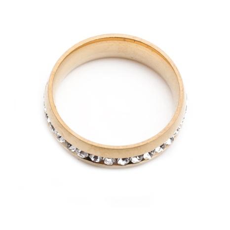 simple titanium steel diamond ring NHYL333073's discount tags