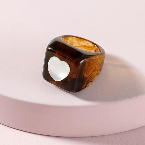 anillo de acrílico de corazón de melocotón de moda NHLU333203's discount tags