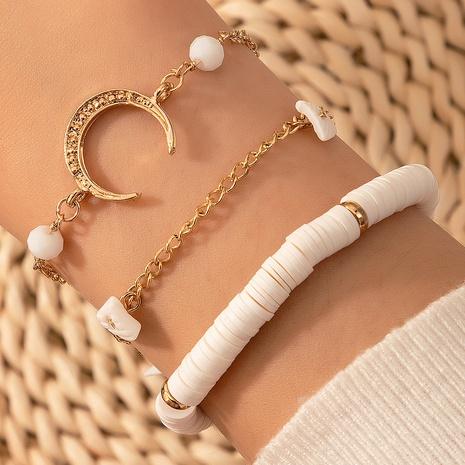 Fashion Soft Ceramic Moon Bracelet 3-Piece Set NHGY333273's discount tags