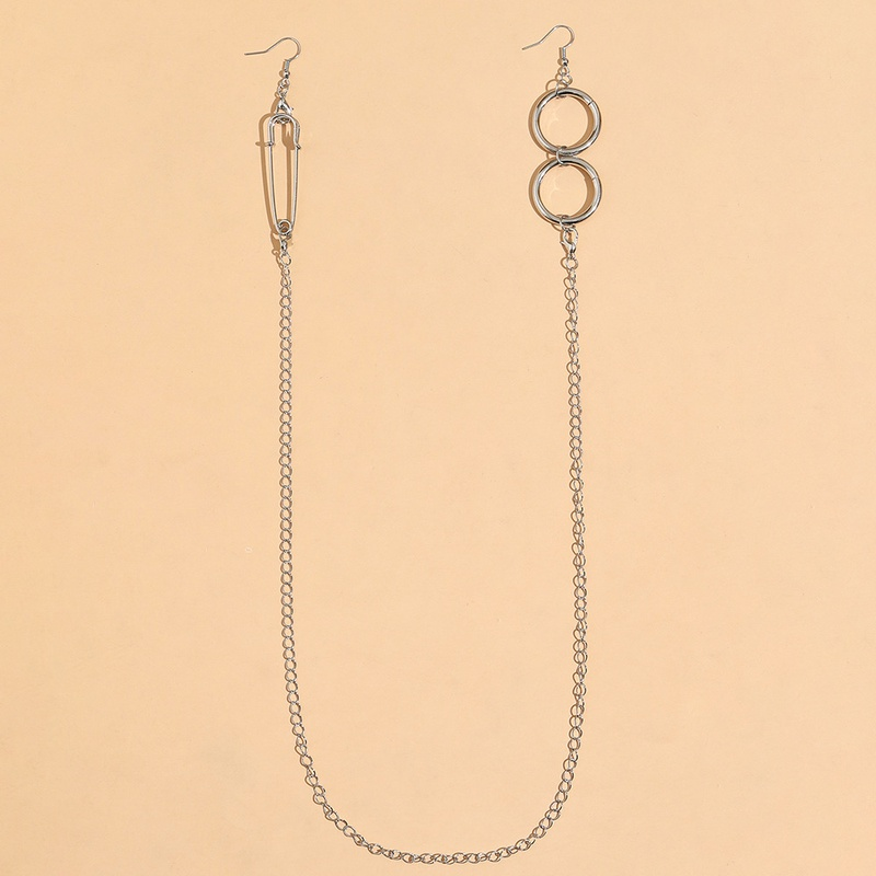 Fashion long integrated one-piece earrings necklace NHPV333281