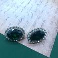 NHOM1537799-Emerald-green-rhinestone-ear-clip-1.92.5-cm