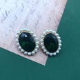 NHOM1537802-Emerald-green-pearl-ear-clip-2.41.9cm