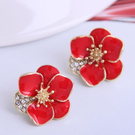 Korean Petal Stud Earrings NHSC333447's discount tags