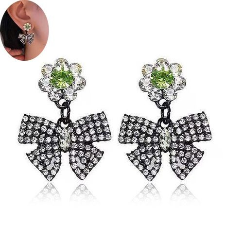 Boucles d'oreilles coréennes Flash Diamond Bow NHSC333442's discount tags