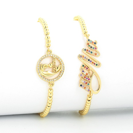 fashion letter MOM mother bracelet  NHWG332951's discount tags