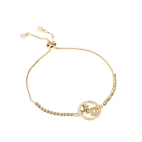 Fashion letters MOM copper zircon round bracelet wholesale NHWG332965's discount tags