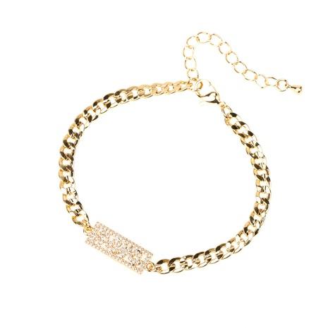 Hiphop heart-shape letters MOM copper zircon bracelet NHWG332966's discount tags