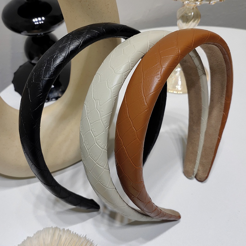 Korean soft leather headband wholesale NHAR333289