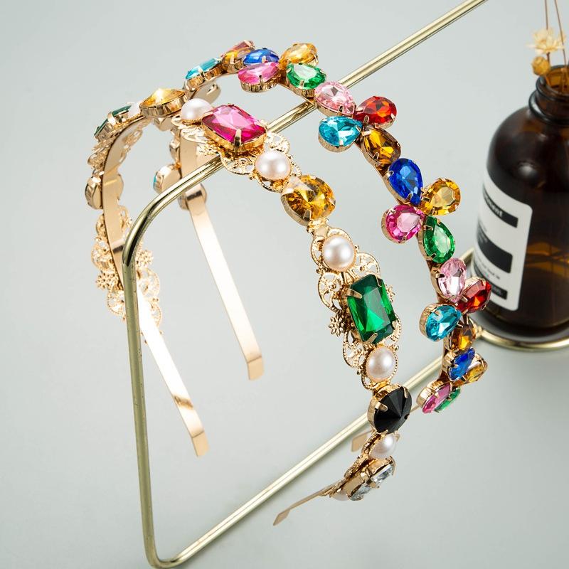 fashion alloy rhinestone flower headband NHLN333311