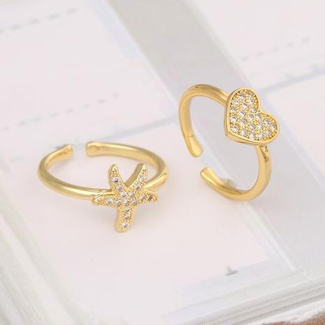 simple Starfish Love Heart Ring  NHBU333349's discount tags