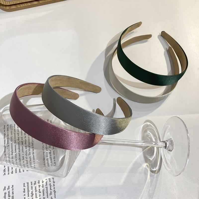 Korean multicolor satin headband  NHWF332737