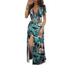 new fashion Vneck print floral dress  NHIS333393