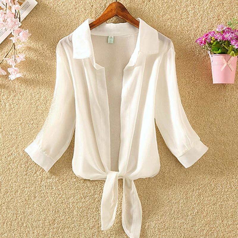 Pure color fashion sunscreen cardigan shirt NHKO335920