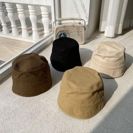 Marée coréenne de chapeau de seau de couleur unie NHCM333640's discount tags