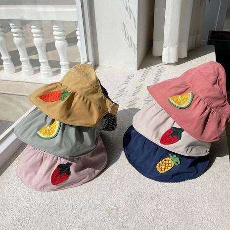Chapeau de pêcheur coréen pour enfants fruits double face NHCM333648's discount tags