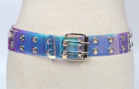 fashion doublebreasted eyelet transparent belt  NHJSR333663