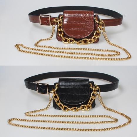 riñonera retro con cinturón de cadena dorada NHJSR333671's discount tags