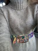 fashion transparent color square buckle wide belt  NHJSR333677