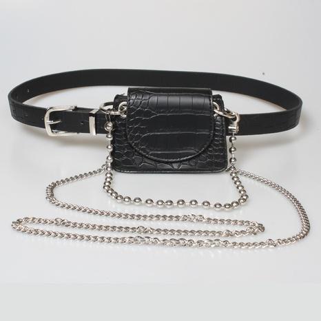 bolso de cintura de cadena de cuentas de patrón de cocodrilo de moda NHJSR333676's discount tags
