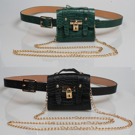 Mode Metallkettengürtel kleine Tasche NHJSR333681's discount tags