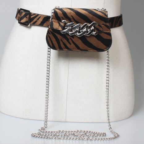 Retro-Gürtel mit Leopardenmuster und kleiner Hüfttasche NHJSR333702's discount tags