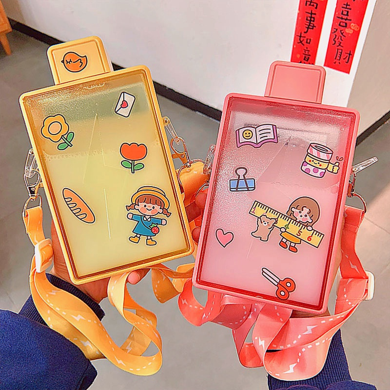 Fashion portable square largecapacity bottle NHtn333782