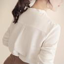Fashion Vneck Long Sleeve Loose Shirt NHUO333944