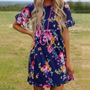 summer Floral Round Neck Printed dress NHUO333943