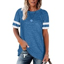 new fashion round neck color matching loose casual Tshirt NHUO333942
