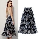 fashion floral chiffon bow midlength large dress NHUO333937