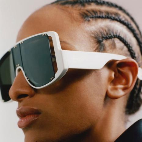 Retro Einteilige Niete große Rahmen bunte Sonnenbrille NHKD333374's discount tags