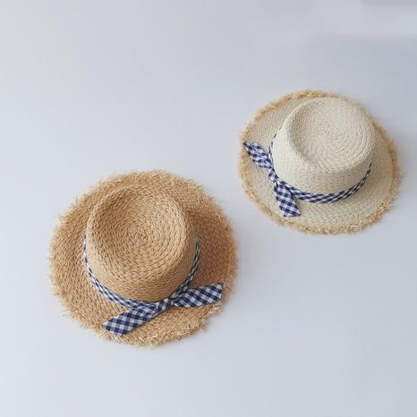 Chapeau de paille pour enfants Bowknot coréen NHQU333401's discount tags