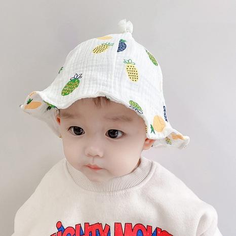 Cartoon Ananas drucken Baby Sonnenhut NHQU333411's discount tags