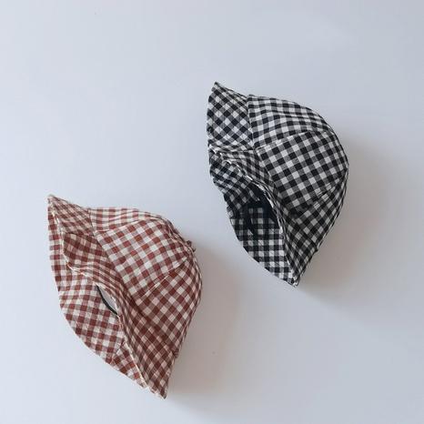chapeaux de pêcheur pour enfants à carreaux de mode NHQU333412's discount tags