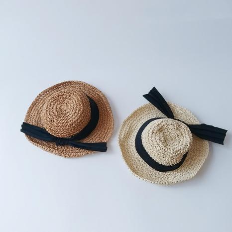 Chapeau de paille simple pour enfants de couleur unie NHQU333414's discount tags