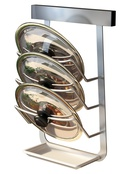 Punchfree stainless steel multifunctional pot cover rack  NHZHC333436