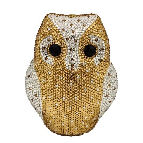 fashion owl shape rhinestone sticker clutch bag  NHJU333452's discount tags
