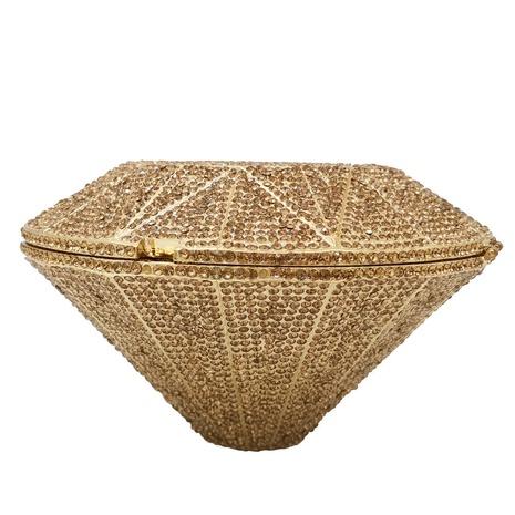 fashion metal diamond diamond shape banquet bag  NHJU333457's discount tags