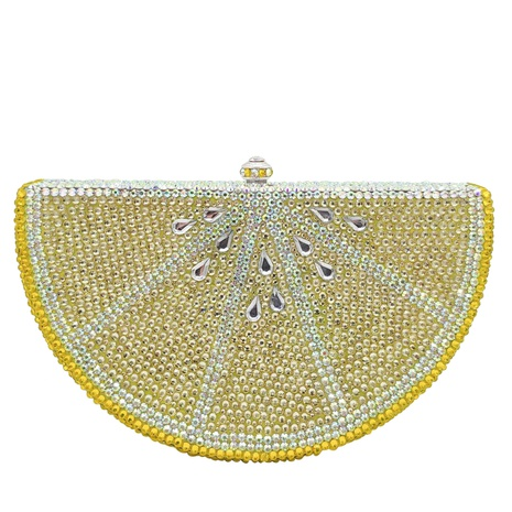 fashion lemon flat bottom diamond clutch bag NHJU333461's discount tags
