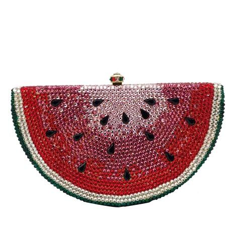 watermelon shape flat bottom diamond clutch bag  NHJU333460's discount tags