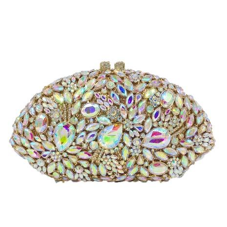 fashion shell-shaped rhinestone clutch bag NHJU333466's discount tags