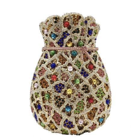 fashion gourd shape diamond clutch bag  NHJU333468's discount tags