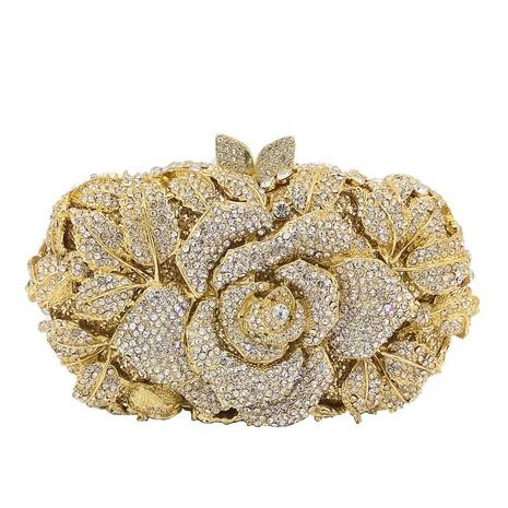 retro rose flower diamond banquet bag  NHJU333470's discount tags