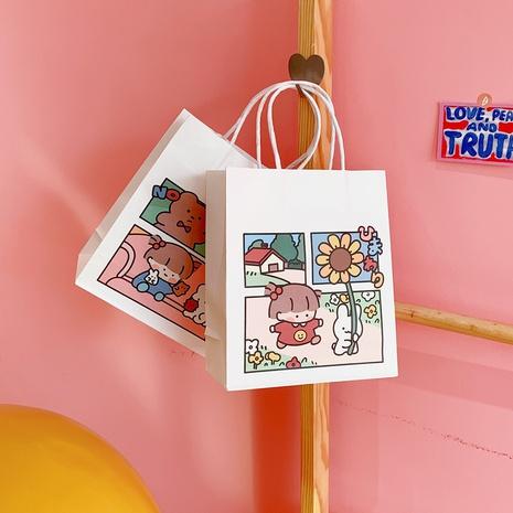 Tragbare Papiereinkaufstasche des Cartoons Großhandel NHZE333828's discount tags