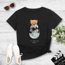 cartoon bear print casual Tshirt NHZN333870