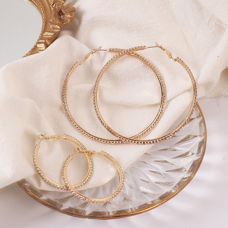 Fashion geometric big circle alloy earrings wholesale NHRN347624's discount tags
