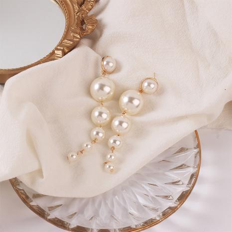 Fashion geometric long tassel alloy earrings wholesale NHRN347630's discount tags