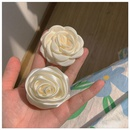 Fashion milky white camellia rose hair rope wholesale NHCQ347635