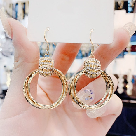 Korean multi-layer circle alloy earrings wholesale NHHER347651's discount tags